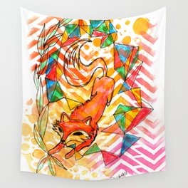 Fox on the Run Wall Tapestry