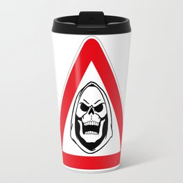 Warning Skeletor Travel Mug