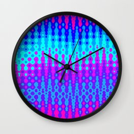 Abstract Melting Oceans Wall Clock