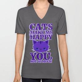 Cats Make Me Happy Unisex V-Neck