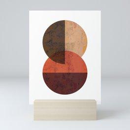 Terracotta Mid Century Abstract Circle Mini Art Print