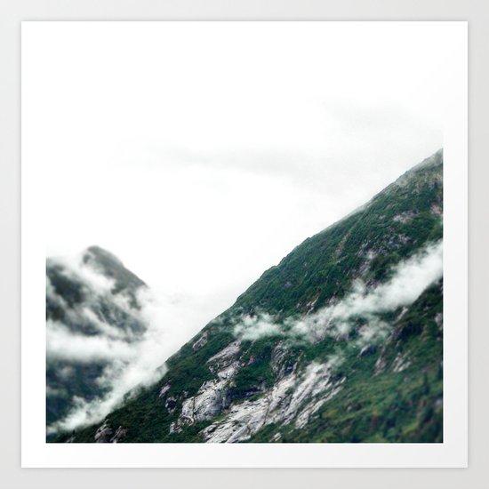 Fog on the Green Mountain Art Print