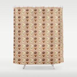 Chocolate hearts Shower Curtain