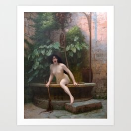 Truth Coming Out of Her Well - Jean-Léon Gérôme Art Print