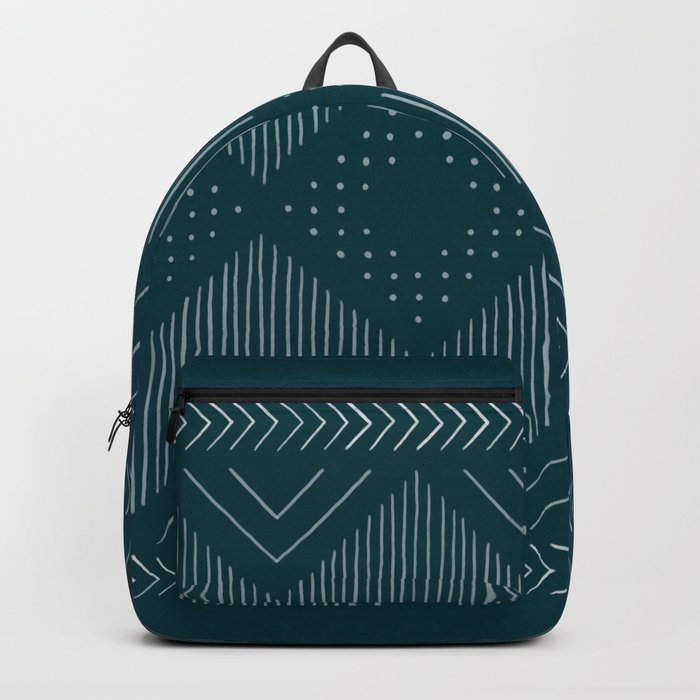Teal Tribal Backpack