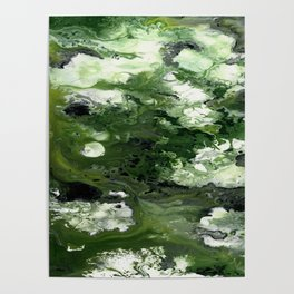 Abstract Acrylic Painting THE FOREST Poster