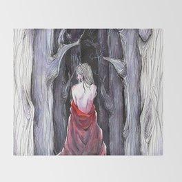 Meet Me in the Woods Throw Blanket