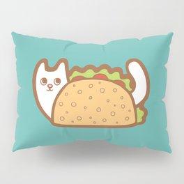 Taco Cat White Pillow Sham