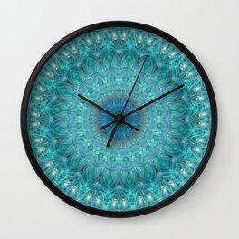Mandala luminous Opal Wall Clock