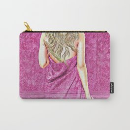 Woman in Towel Carry-All Pouch
