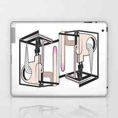 lady at the mirror Laptop & iPad Skin