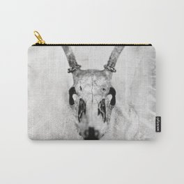 Whitetail Deer Skull (Buck) - 8x10 Tintype Photo Carry-All Pouch