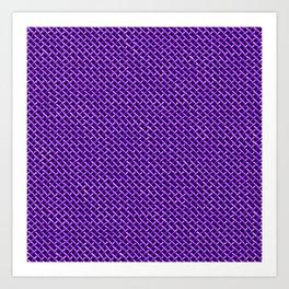 Purple Wire Mesh Pattern Art Print