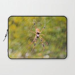 Rain Soaked Orb-Weaver Laptop Sleeve