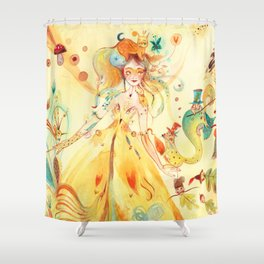 Fée de l'Automne Shower Curtain