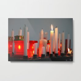 Votive wax candles Metal Print