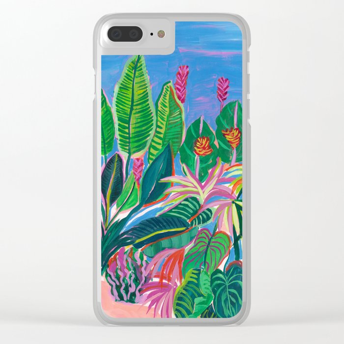 Tropical Patio Clear iPhone Case