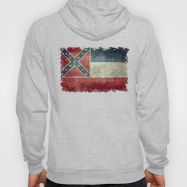 Mississippi State Flag in Distressed Grunge Hoody
