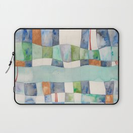 Tranquil Waters, Blue and Green Laptop Sleeve