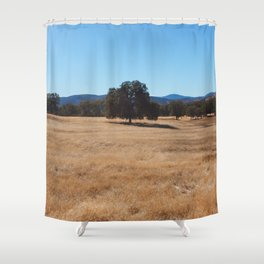 Fall Field Photography Print Shower Curtain