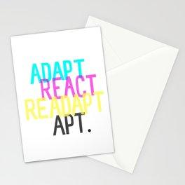 Adapt React Readapt Apt Stationery Cards