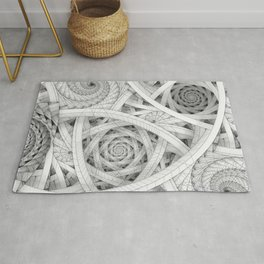 GET LOST - Black and White Spiral Rug