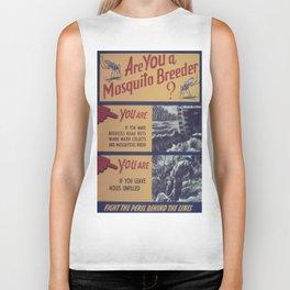 Vintage poster - Mosquito breeder Biker Tank
