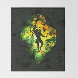 Ape Man Throw Blanket