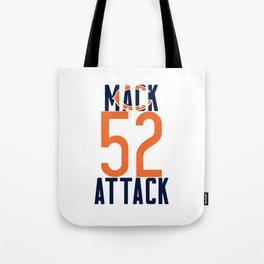 Khalil Mack 52 Bears Footbal Tote Bag