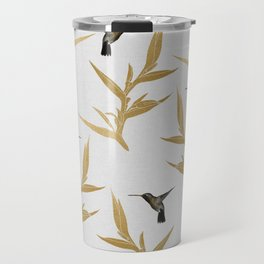 Hummingbird & Flower II Travel Mug