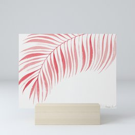 Tropical Palm Frond: Coral/Red Mini Art Print