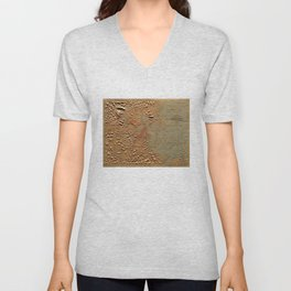 Vintage Relief Map of Boston MA (1874) Unisex V-Neck