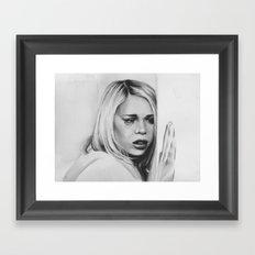 rose goodbye Framed Art Print