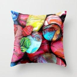Colorful sea stones Throw Pillow