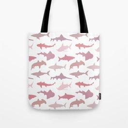Pink Sharks Tote Bag