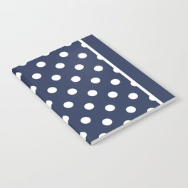 Dark Indigo Polka Dots Palm Beach Preppy Notebook