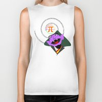 pi Biker Tanks featuring Count Pi by tuditees