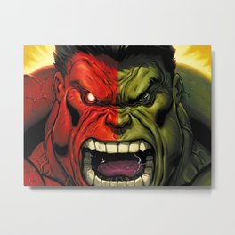 Hulk green red superhero Metal Print