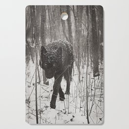 Snow Wolf Cutting Board