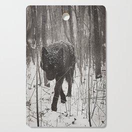 Snow Wolf Cutting Board