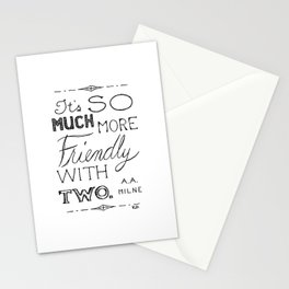 Friendly With Two Stationery Cards