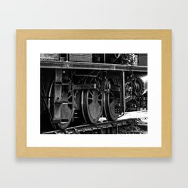 Workhorse At Rest B/W Framed Art Print