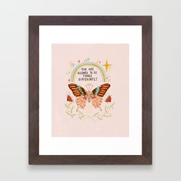 You are allowed to do things differently Framed Art Print