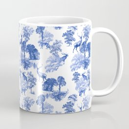 Classic French Toile Countryside Deer Pattern Coffee Mug