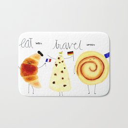 eat and travel Bath Mat