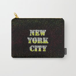 New York City Silver Gold Glitters Carry-All Pouch