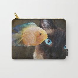 Wishful Thinking 2 - Siamese Cat Art - Sharon Cummings Carry-All Pouch