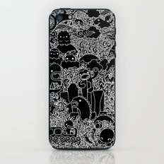 Oodles of Doodles of Singapore (Black) iPhone & iPod Skin