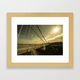 Clifton Bridge Sunset  Framed Art Print