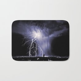 Lightning and Rain Funnel Bath Mat